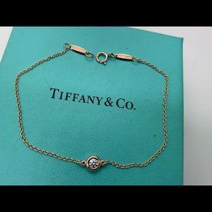 "Tiffany&co 18KT Diamonds By The Yard Bracelet 7"""